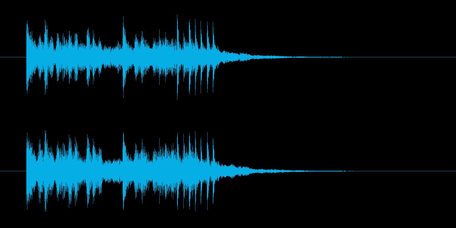 神秘的で近未来的なテクノジングルの再生済みの波形