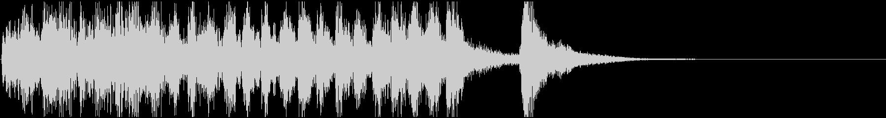 素早いピチカートの楽しげなジングル(3)の未再生の波形