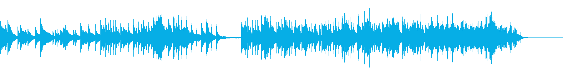 高音・低音が心に入るピアノBGMの再生済みの波形