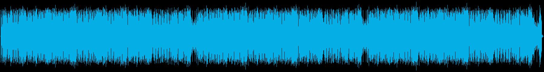 アグレッシブなドラムループとエレキ...の再生済みの波形
