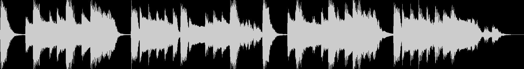 温かいピアノのジングル(ループ可)の未再生の波形