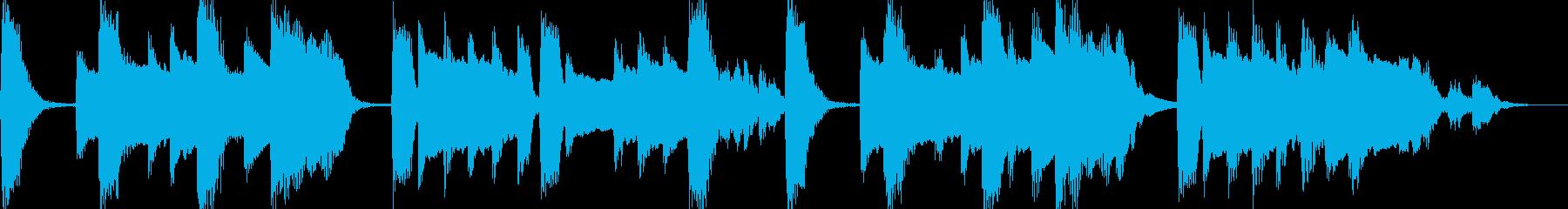 温かいピアノのジングル(ループ可)の再生済みの波形