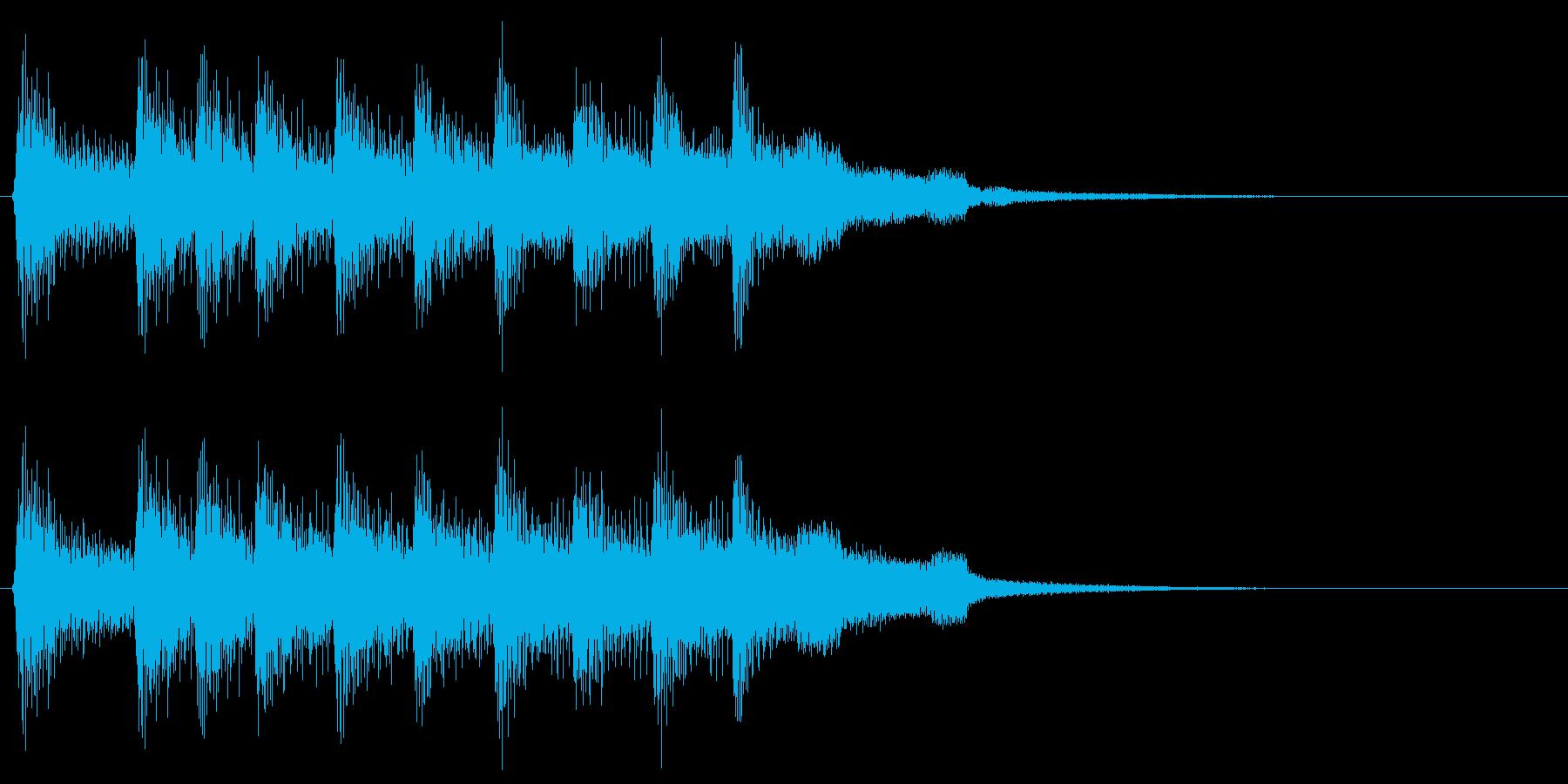 レトロなゲームクリア音 勝利 ピコピコ音の再生済みの波形