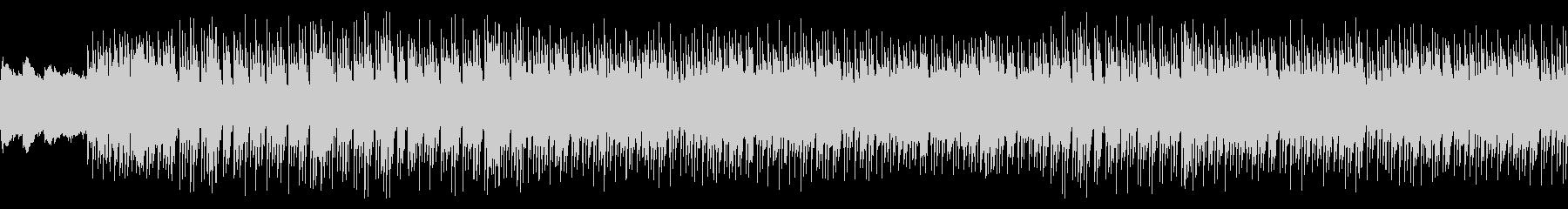 シンセの旋律が軽やかなテクノポップの未再生の波形