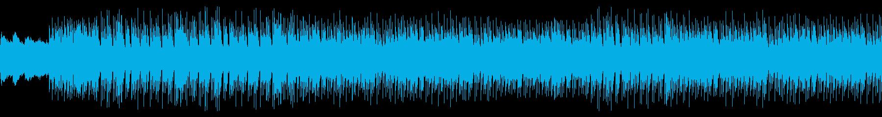 シンセの旋律が軽やかなテクノポップの再生済みの波形