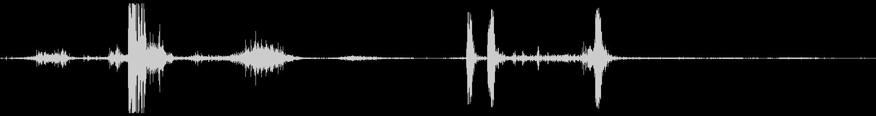 ボディフォールサンプの未再生の波形
