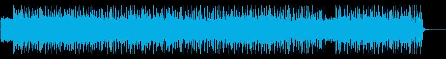 スパイ映画の劇中に流れるBGMの再生済みの波形