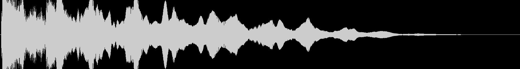てー(ガラス的クリック音)の未再生の波形