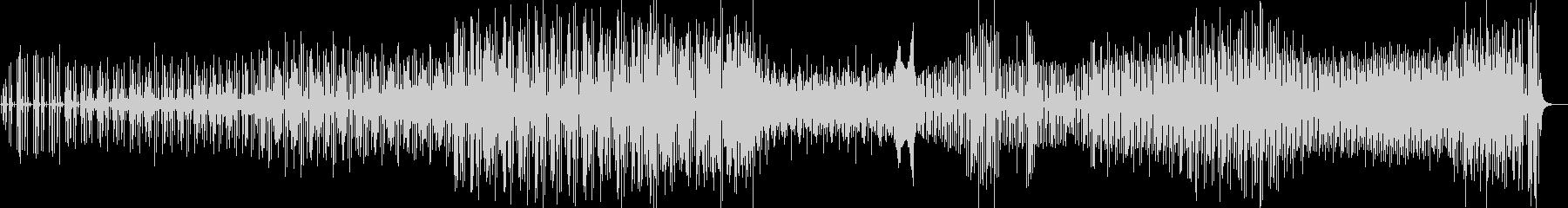 アグレッシブでストレンジなドラムテクノの未再生の波形
