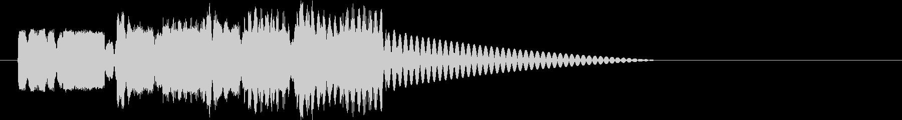 ロボットサウンド 機械音10の未再生の波形