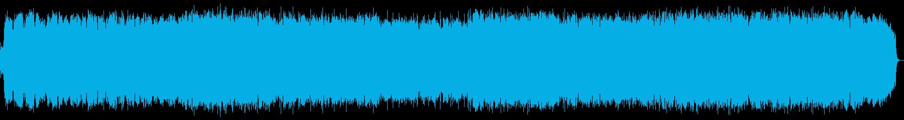 少し寂しげな竹笛のヒーリング音楽の再生済みの波形