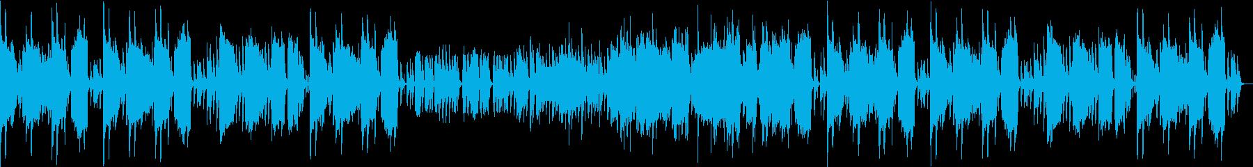 楽しい雰囲気のジャズの再生済みの波形