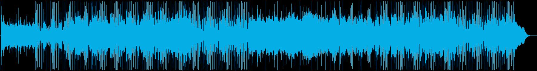 落ち着いて広がりのあるBGM。ホルンの音の再生済みの波形