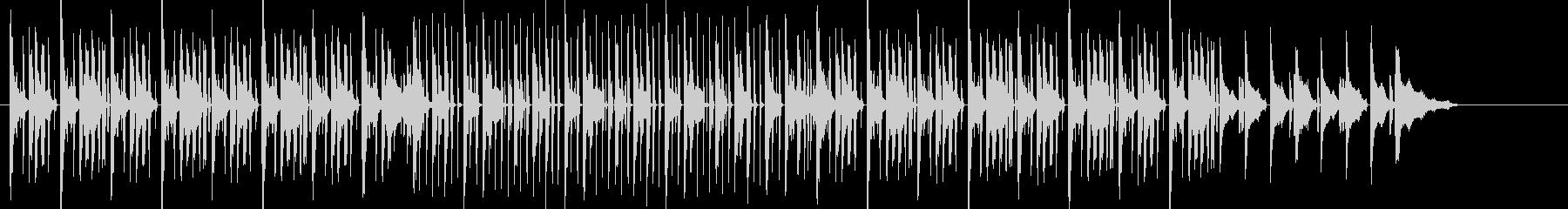 ラップが似合いそうななヒップホップ曲の未再生の波形