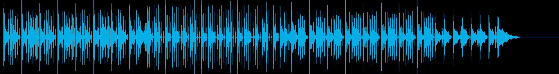 ラップが似合いそうななヒップホップ曲の再生済みの波形