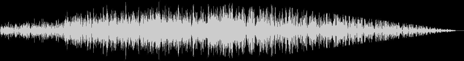 ジェット機通過(2音)の未再生の波形
