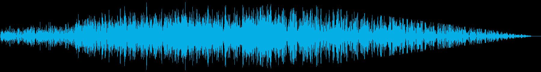 ジェット機通過(2音)の再生済みの波形