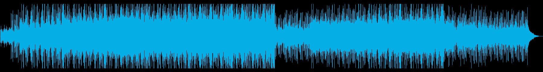 複数のピアノが折り重なる遠景を思わせる曲の再生済みの波形