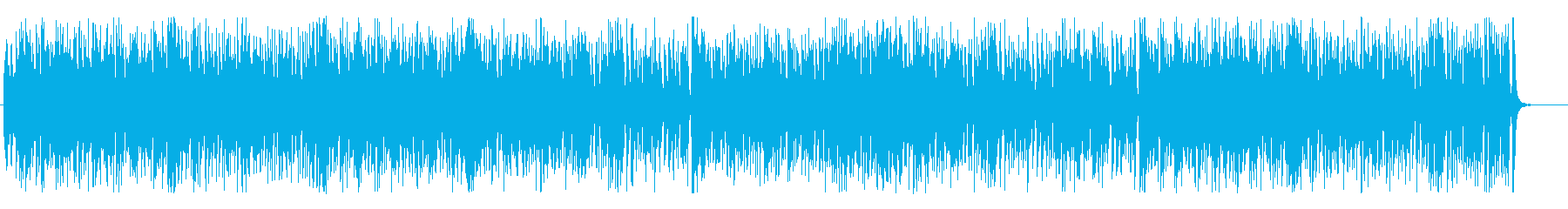 ファンクバンド風◎ビート感のあるBGMの再生済みの波形