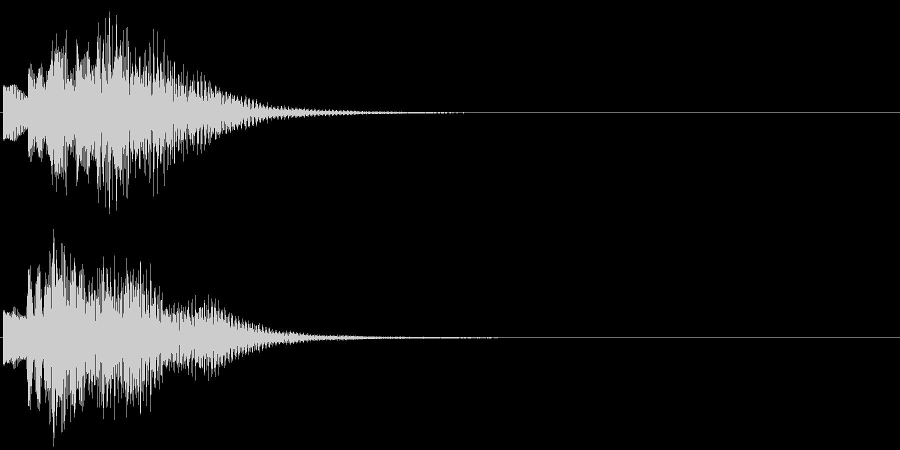 お知らせ タイトル チャイム ロゴ音8の未再生の波形