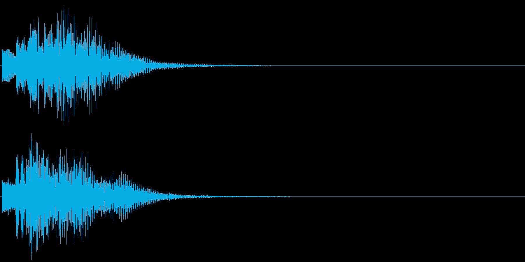 お知らせ タイトル チャイム ロゴ音8の再生済みの波形