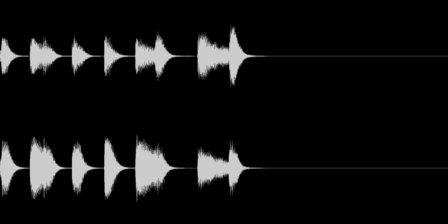 やさしいピアノ・サウンドロゴ1の未再生の波形
