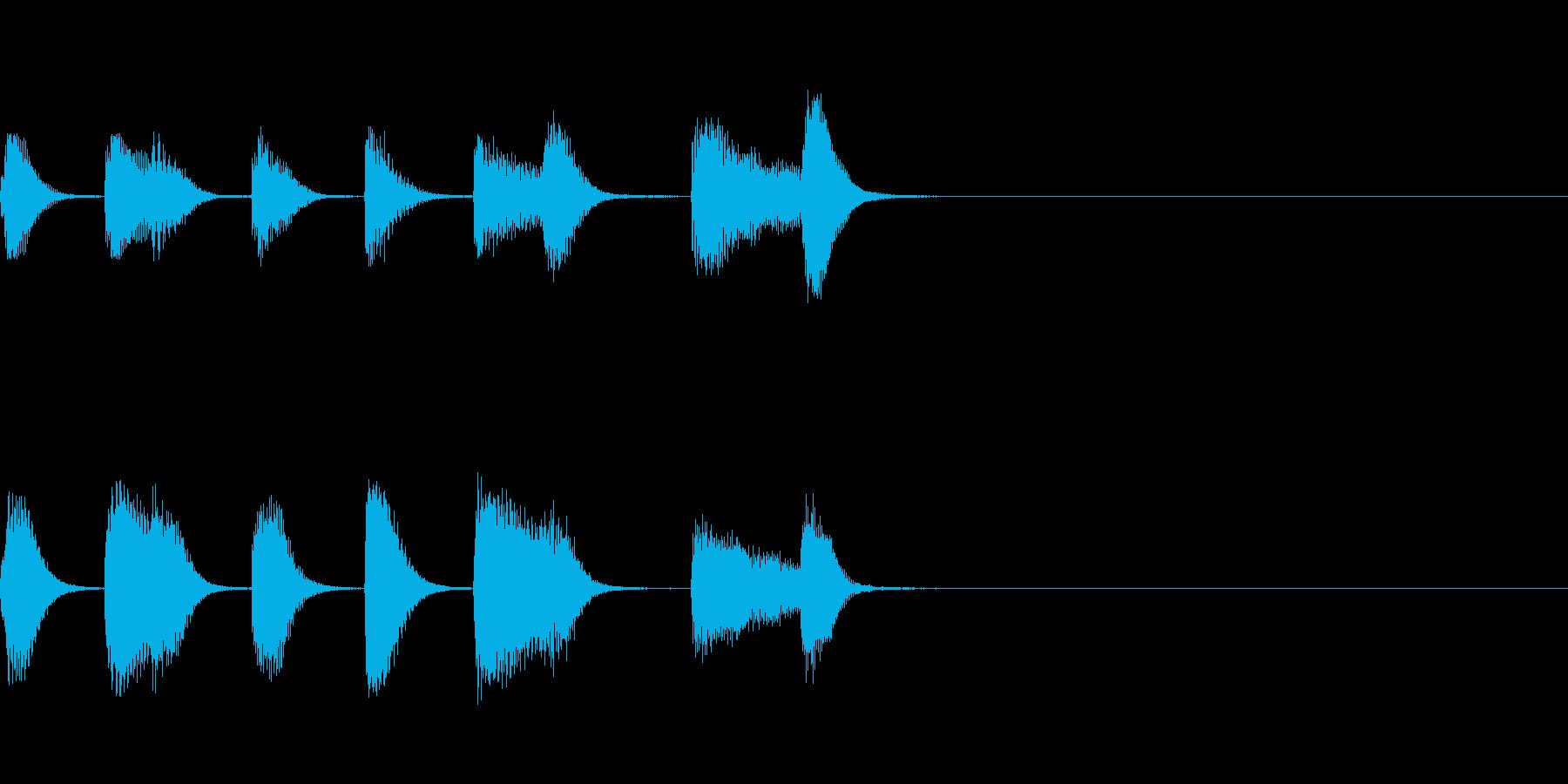 やさしいピアノ・サウンドロゴ1の再生済みの波形
