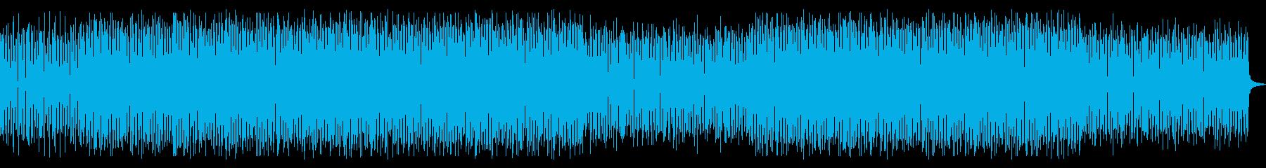 シンプルで強めのテクノ曲の再生済みの波形