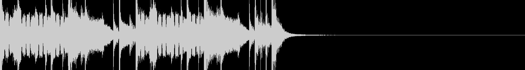 ジャズ風ジングルの未再生の波形