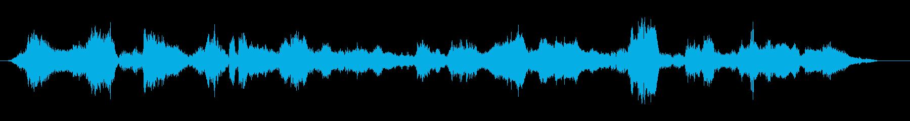 不思議な未知の世界の雰囲気なBGMの再生済みの波形