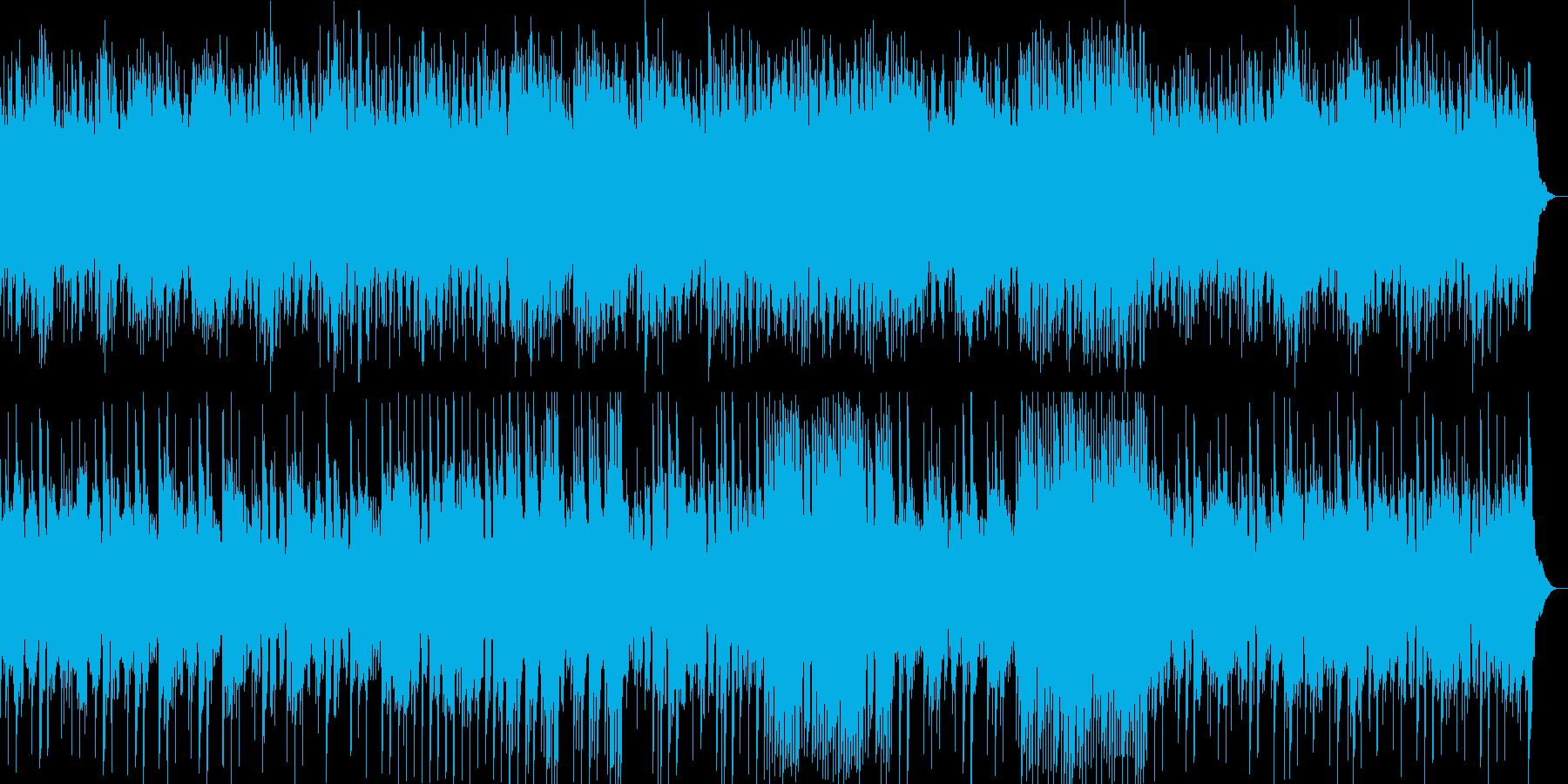 明るく落ち着いた雰囲気のヒーリング曲の再生済みの波形