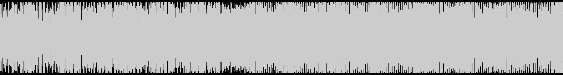 空中戦をイメージしたドラムンベースの未再生の波形