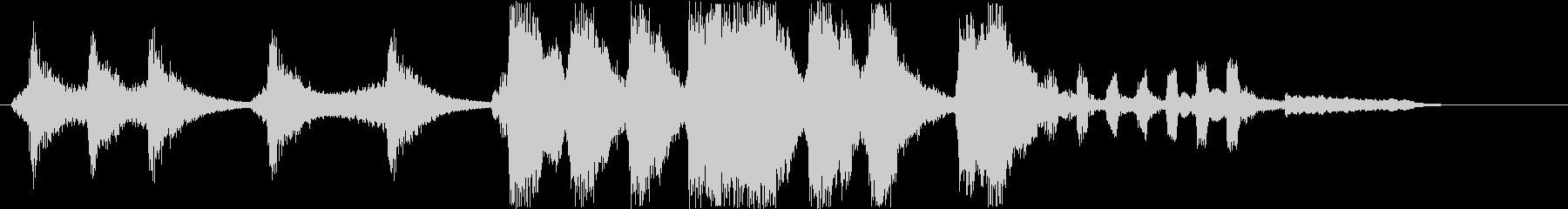 コミカルなシンセサウンド短めの未再生の波形