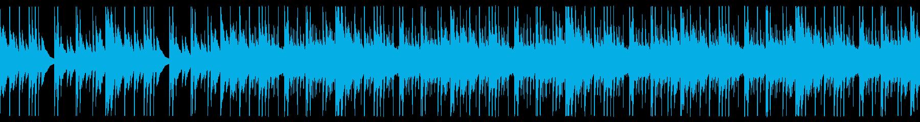 ほのぼのしたアウトドア系キャンプBGMの再生済みの波形