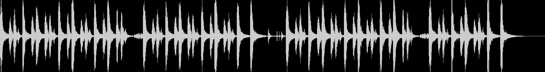 30秒CM、明るい印象のピチカートBGMの未再生の波形