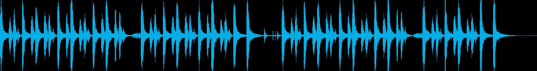 30秒CM、明るい印象のピチカートBGMの再生済みの波形