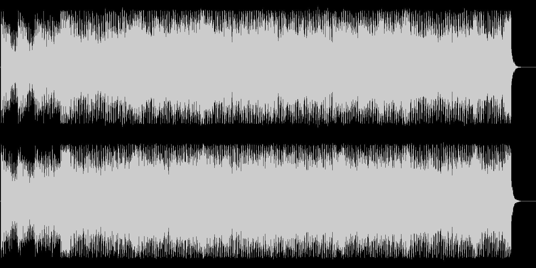 アップテンポでエネルギッシュなBGMの未再生の波形