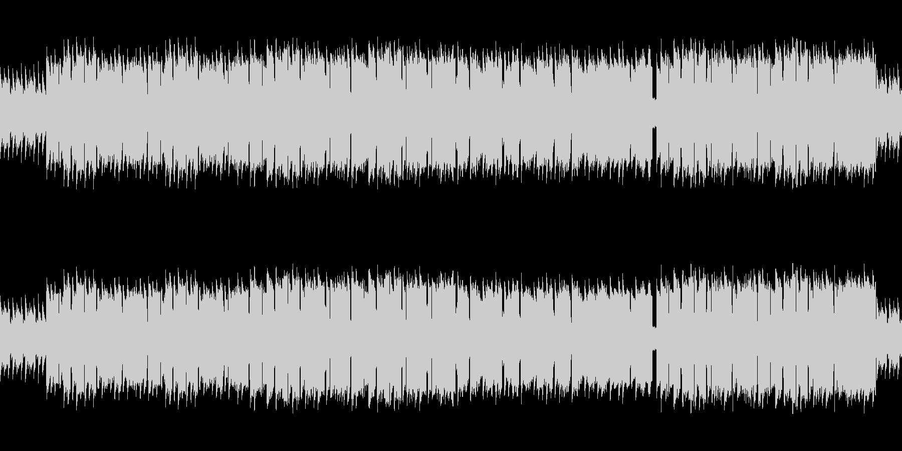 8bitサウンドの癒し系民族調ワルツの未再生の波形