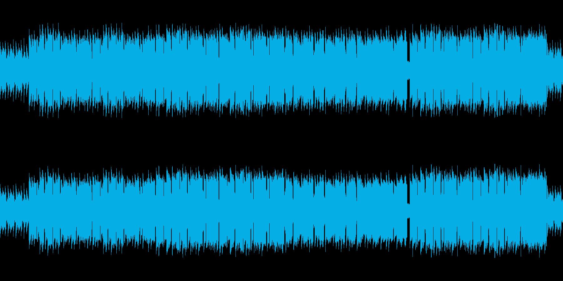 8bitサウンドの癒し系民族調ワルツの再生済みの波形