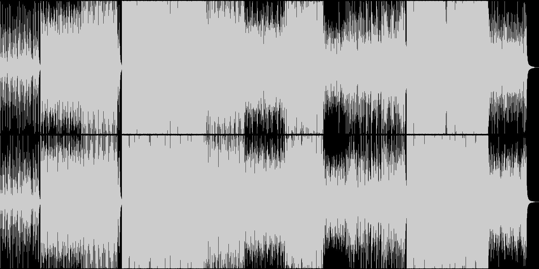 琴や和太鼓を使ったブレイクビーツの未再生の波形