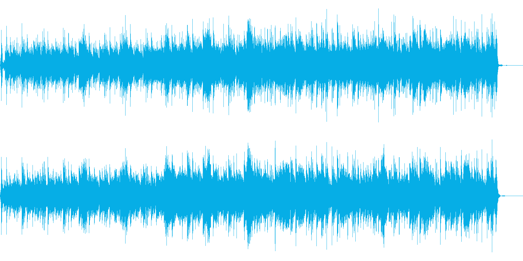 オーロラの夜 ギターの生演奏の再生済みの波形