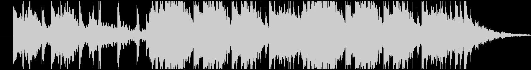 コミカルで転がるようなサウンドのBGMの未再生の波形