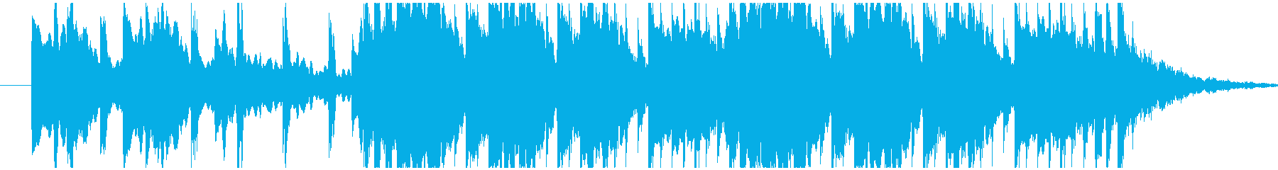 コミカルで転がるようなサウンドのBGMの再生済みの波形