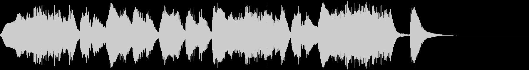 フルートによるコミカルなジングルの未再生の波形