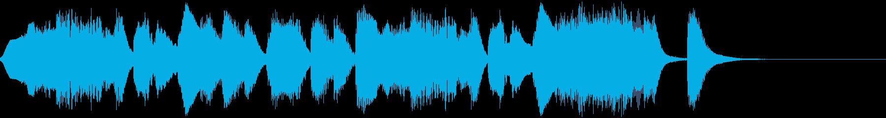 フルートによるコミカルなジングルの再生済みの波形