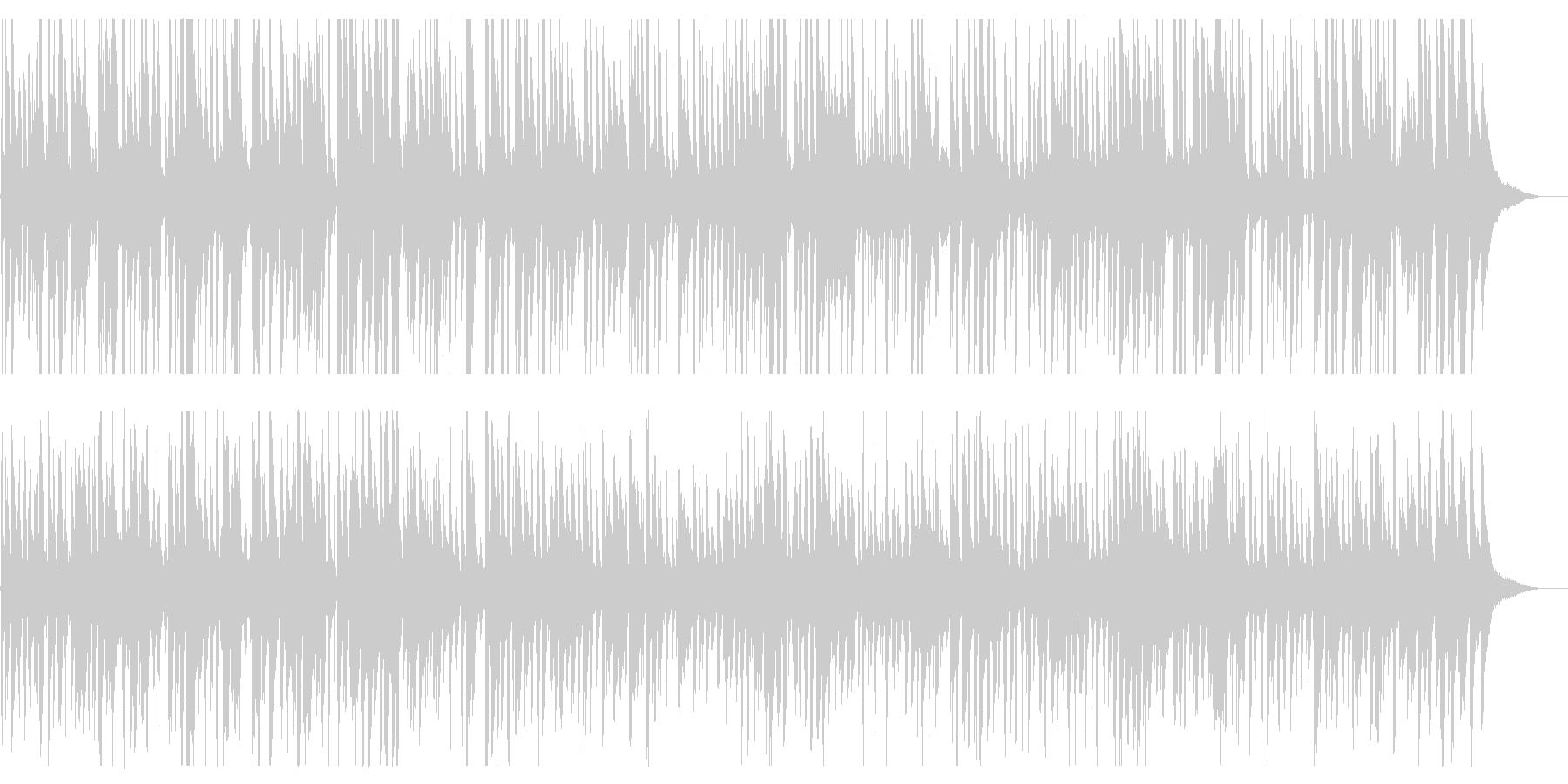 生演奏おしゃれジャズピアノBGMの未再生の波形