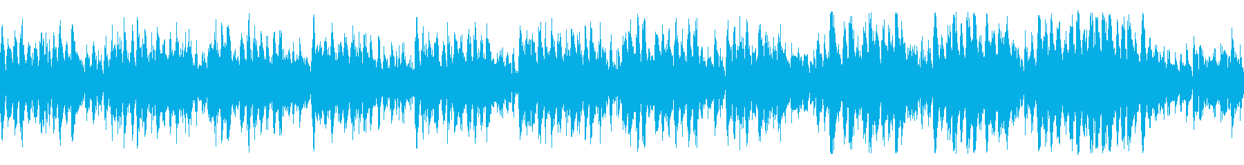 コミカル  オーケストラ 音楽の再生済みの波形