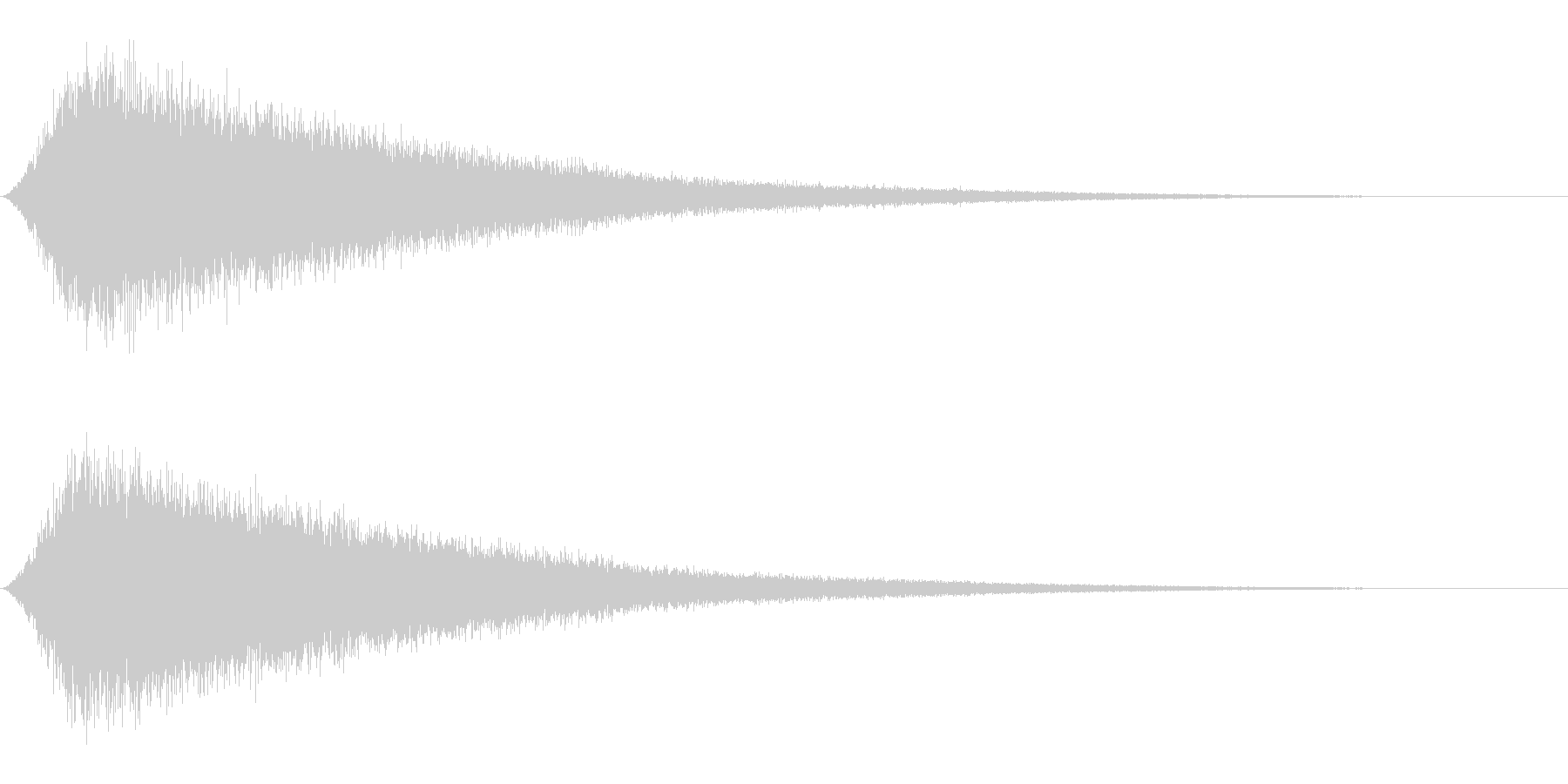 Seaside 波の音 ワンショット音源の未再生の波形