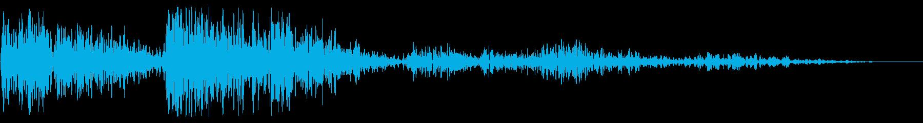 低サブ周波数二重衝撃爆発ベースの再生済みの波形