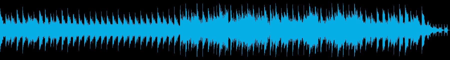 おしゃれなイメージの短尺動画用BGMの再生済みの波形